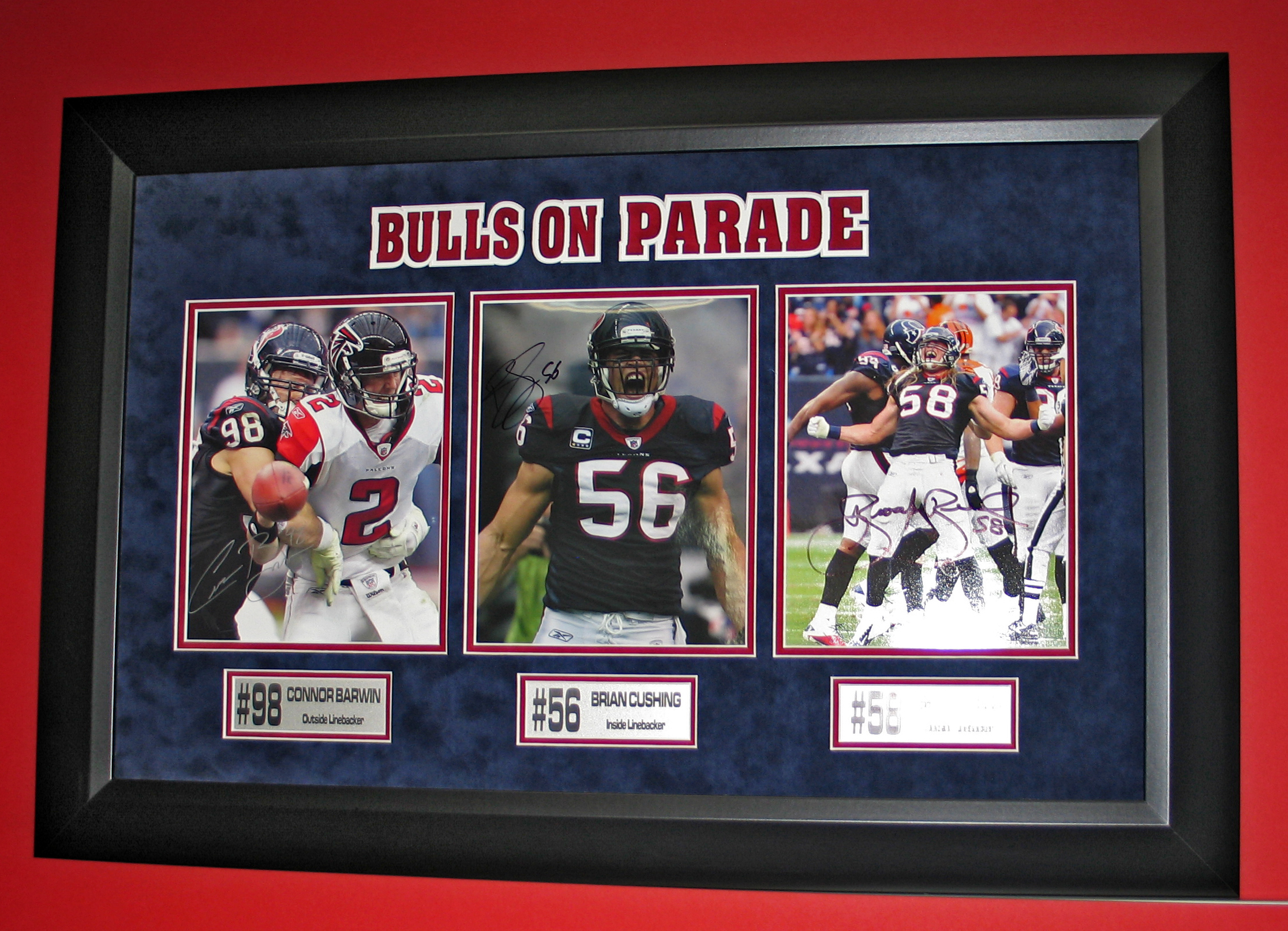 custom framing houston bulls on parade