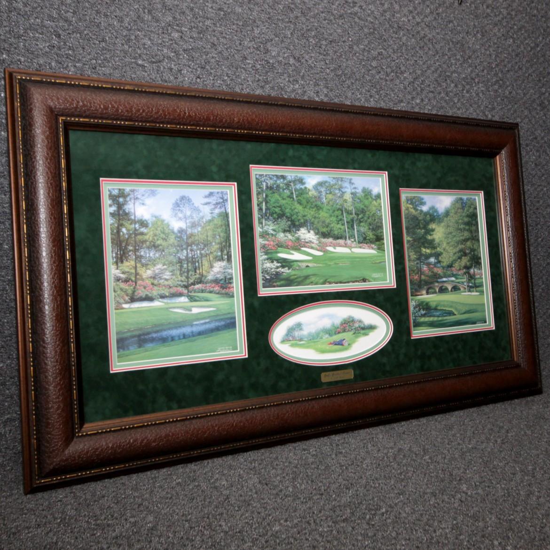Fine Art Golf's Greatest Corner Larry Dyke Augusta Art & Frame Etc.