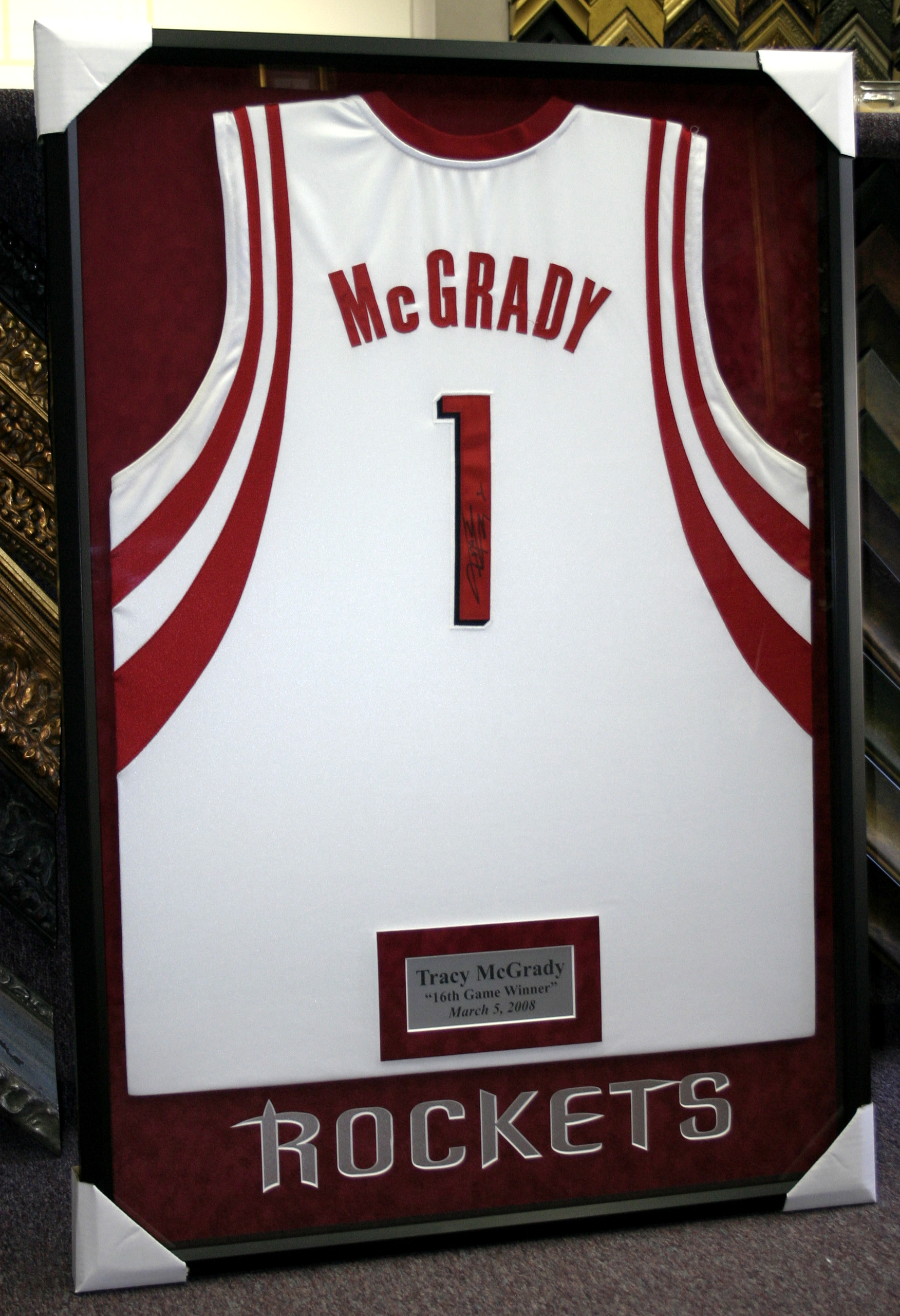 Sports at Art & Frame Etc.- Custom Framing Sports memorabilia
