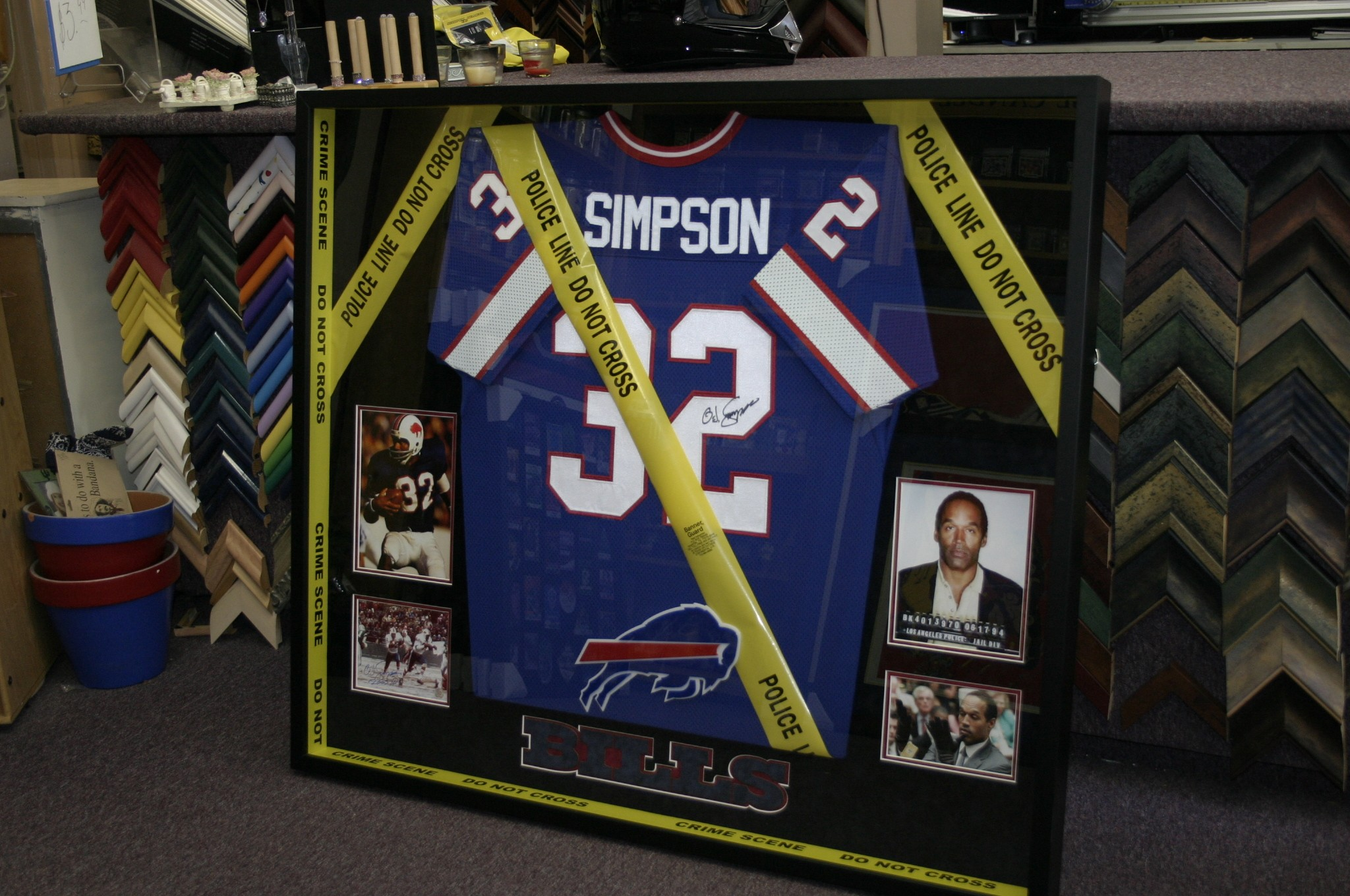 sale retailer afade 2da26 OJ Simpson Jersey after - Art & Frame Etc.