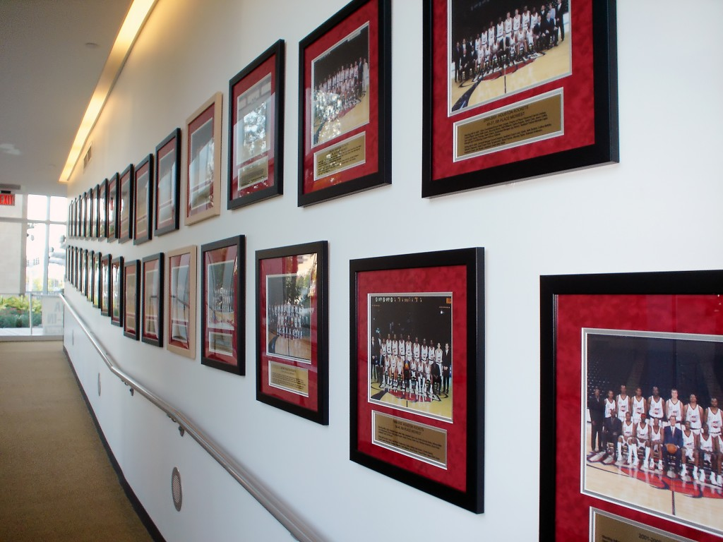 Houston Rockets Team photos wall