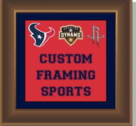 Sports Framing, Custom, Custom Framing, Custom Framing Houston, Framing, Art, Fine Art, Sports, Jersey, frame, frames, frame shop, Art & Frame, Art & Frame Etc., photo printing, engraving, online store, corporate, specialty, Mike Welsch, Heather Welsch, Fred Stewart, Texans, Rockets
