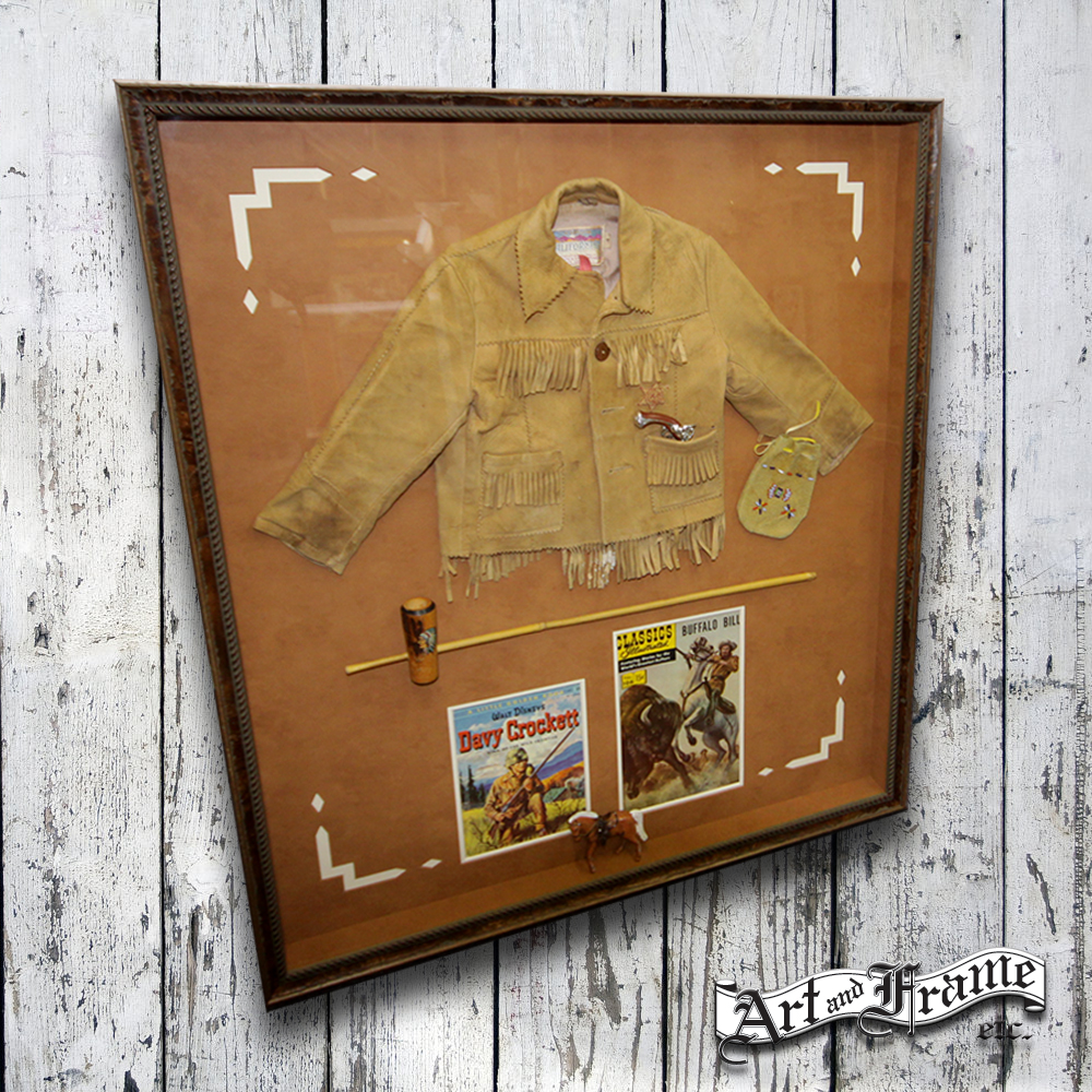 Do you have all your childhood memories put away in boxes? Framing them puts them on display while protecting them for years to come.